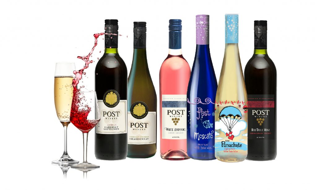 Bottles of wine, a mixed selection
